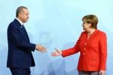 Cumhurbaşkanı Recep Tayyip Erdoğan, Almanya Başbakanı Angela Merkel