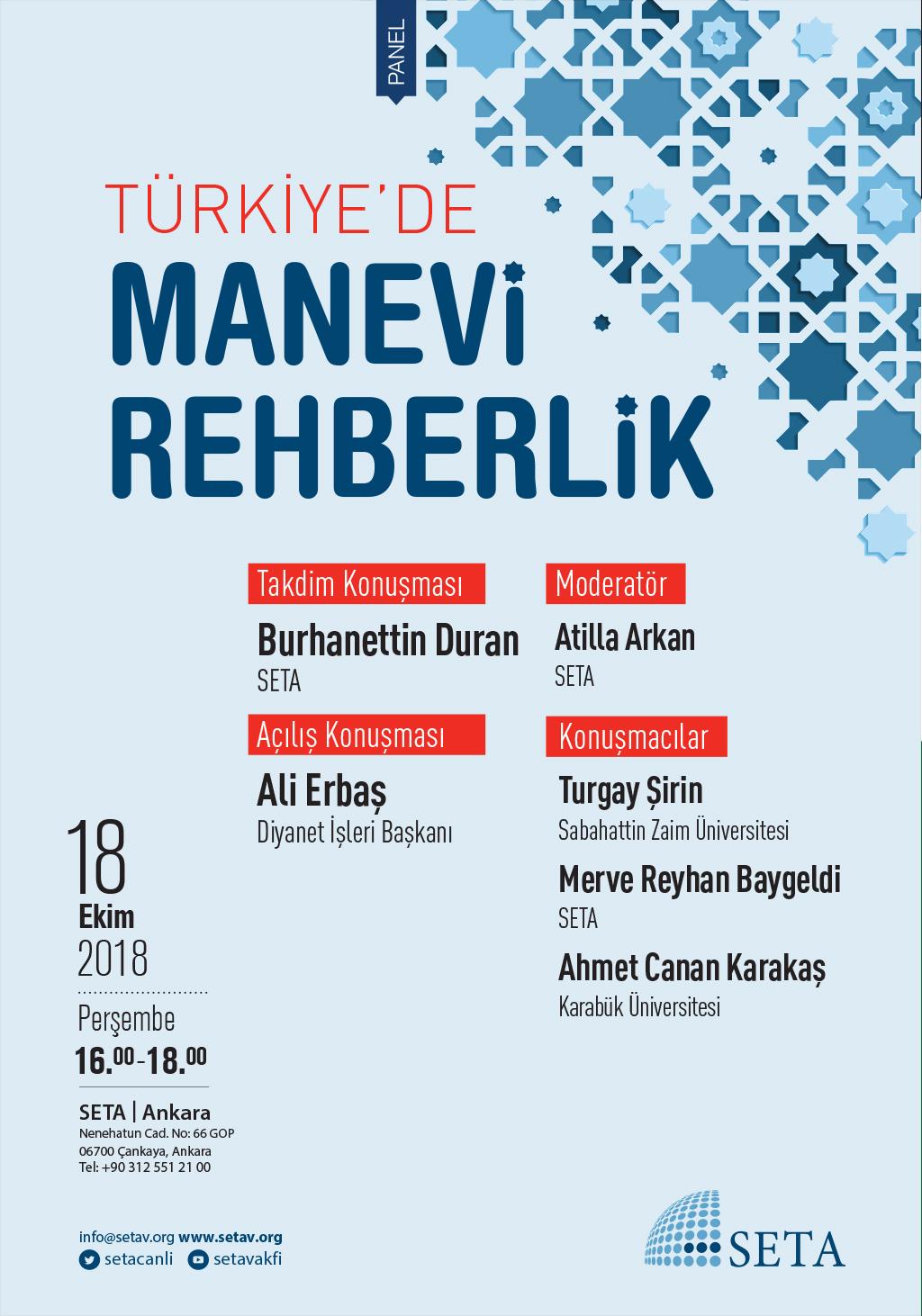 Panel: Türkiye'de Manevi Rehberlik