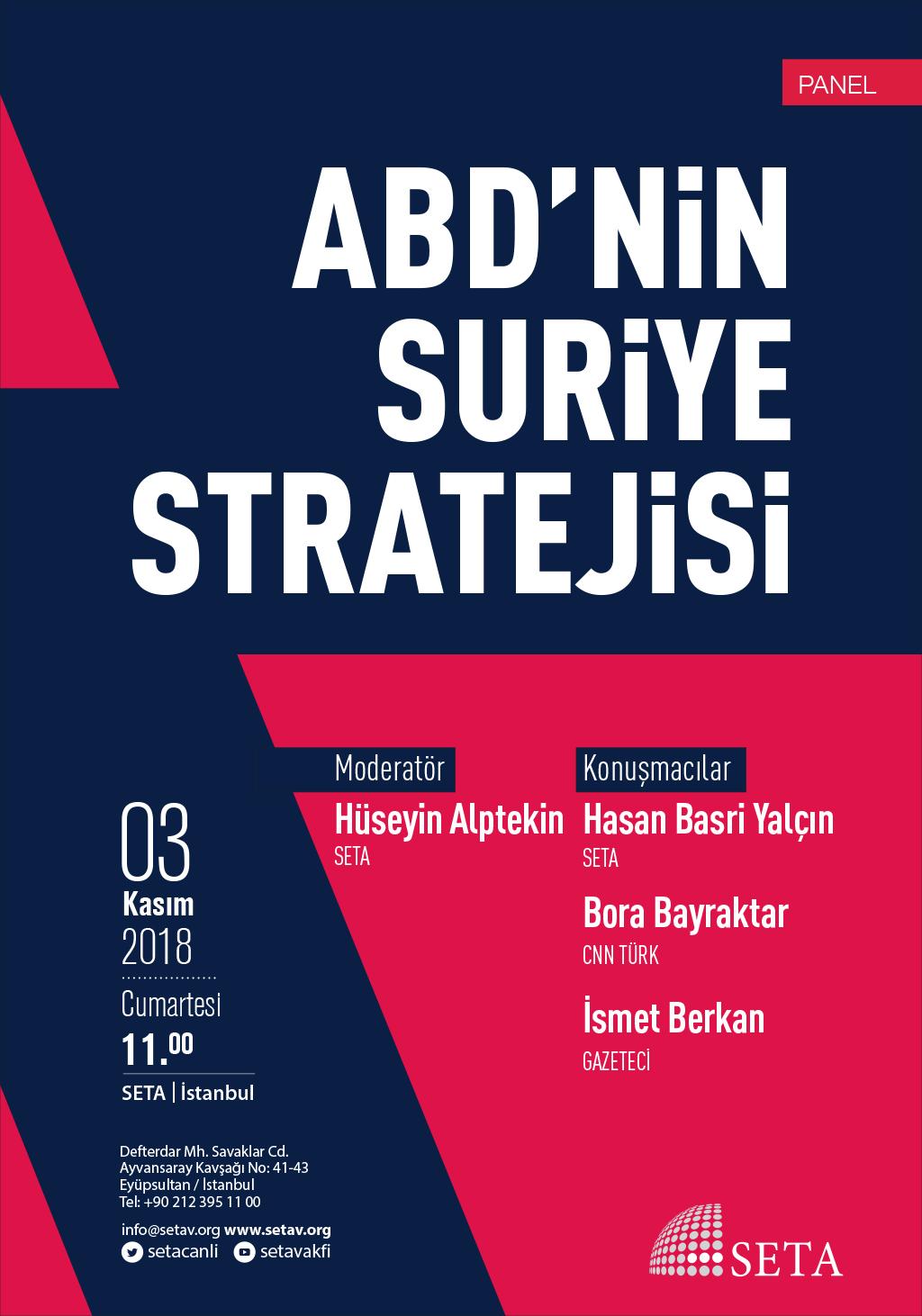 Panel: ABD'nin Suriye Stratejisi