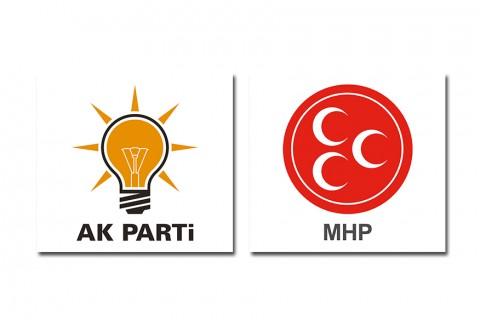 AK Parti ve MHP logoları