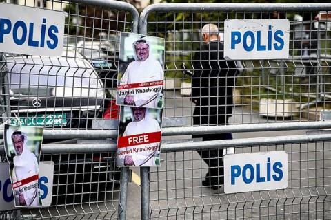 10 Ekim 2018 | Suudi Arabistan İstanbul Başkonsolosluğu önü.