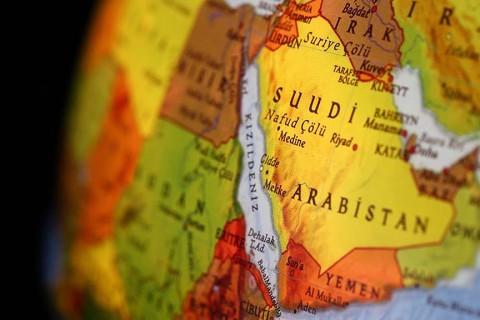 Suudi Arabistan - Yerküre haritası