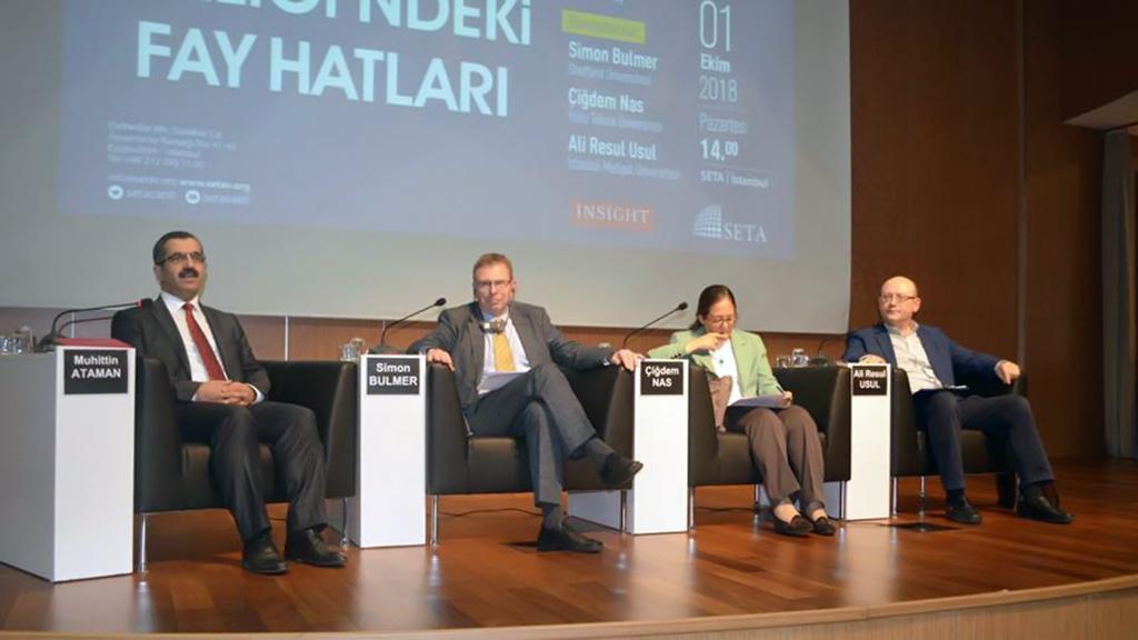 """Siyaset, Ekonomi ve Toplum Araştırmaları Vakfı (SETA) tarafından """"Avrupa Birliği'ndeki Fay Hatları"""" konulu panel düzenlendi."""