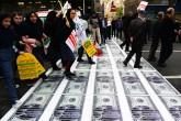 İran Yaptırımları protesto yürüyüşü, Tahran