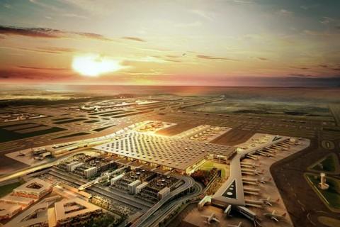 İstanbul Yeni Havalimanı alanından bir kesit