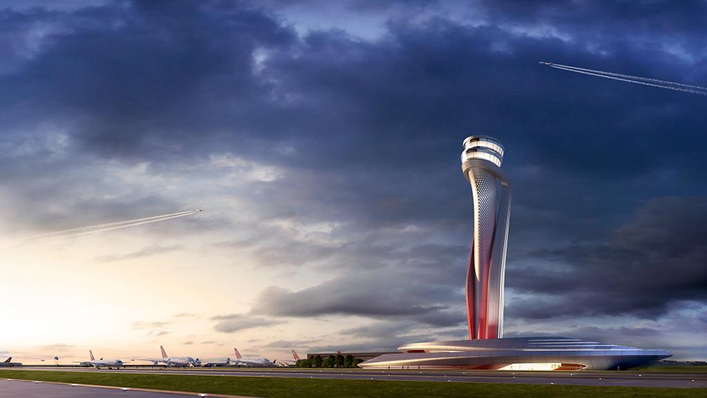 İstanbul Yeni Havalimanı'nın hava trafik kontrol kulesi