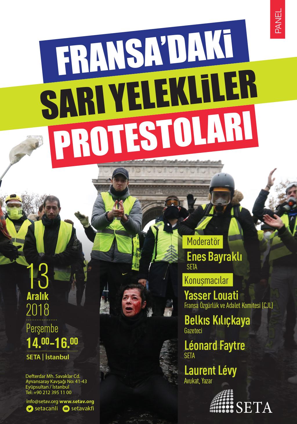 Panel: Fransa'daki Sarı Yelekliler Protestoları