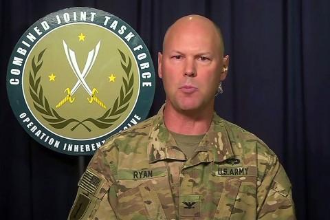 ABD öncülüğündeki DEAŞ karşıtı koalisyonun sözcüsü Albay Sen Ryan
