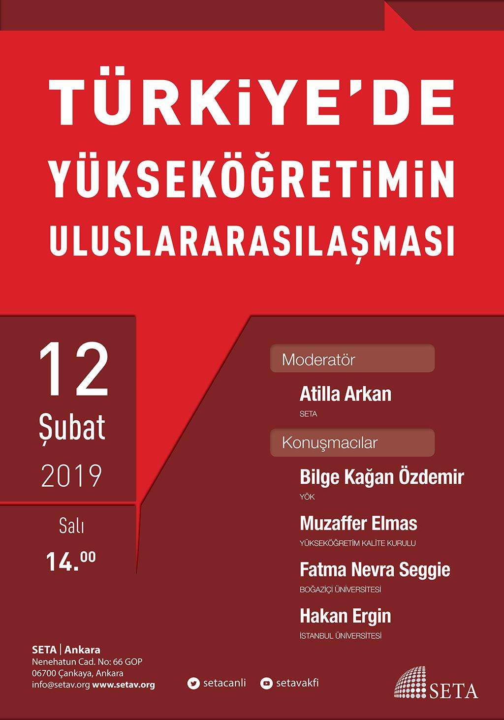 Panel: Türkiye'de Yükseköğretimin Uluslararasılaşması