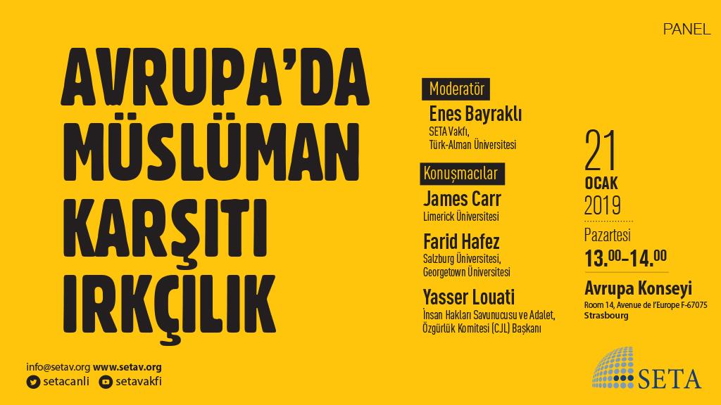 Panel: Avrupa'da Müslüman Karşıtı Irkçılık