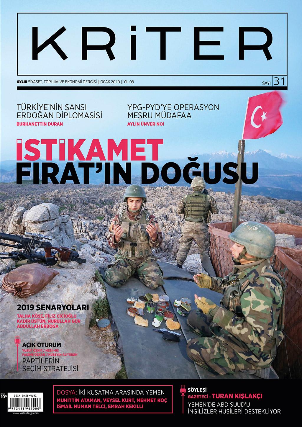 Kriter'in Ocak Sayısı Çıktı: İstikamet Fırat'ın Doğusu