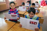 İlkokul öğrecilerinin karne heyecanı