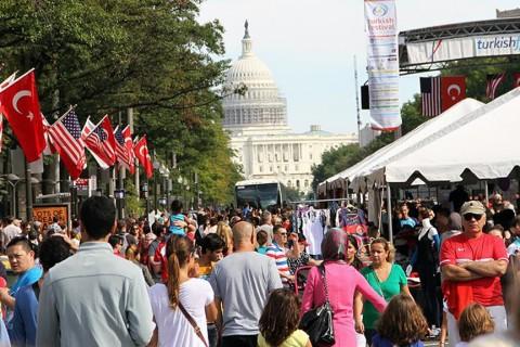Washington'da 'Geleneksel Türk Festivali'nden bir kare.