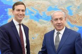 22 Haziran 2018 | İsrail Başbakanı Benyamin Netanyahu (sağda), ABD Başkanı Donald Trump'ın damadı ve danışmanı Jared Kushner (solda) ile birlikte Kudüs'te.