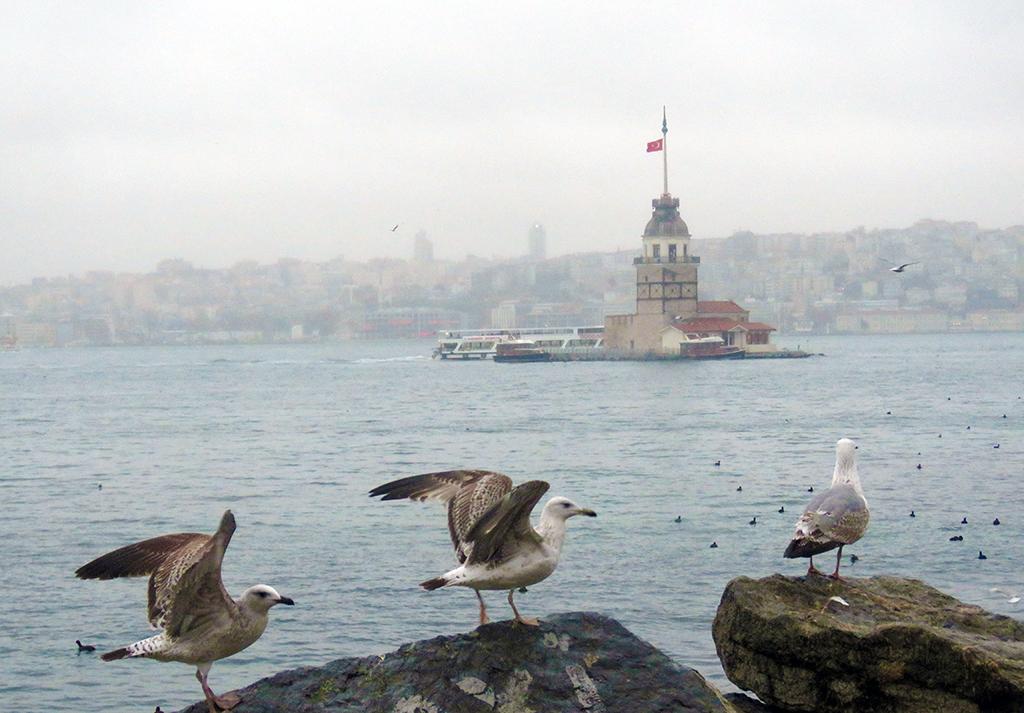 Aralık 2018 | Kız Kulesi, İstanbul Boğazı. | Fotoğraf: AA