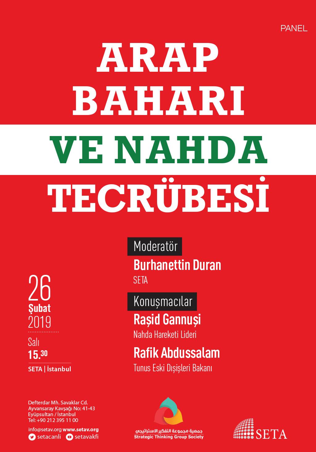 Panel: Arap Baharı ve Nahda Tecrübesi