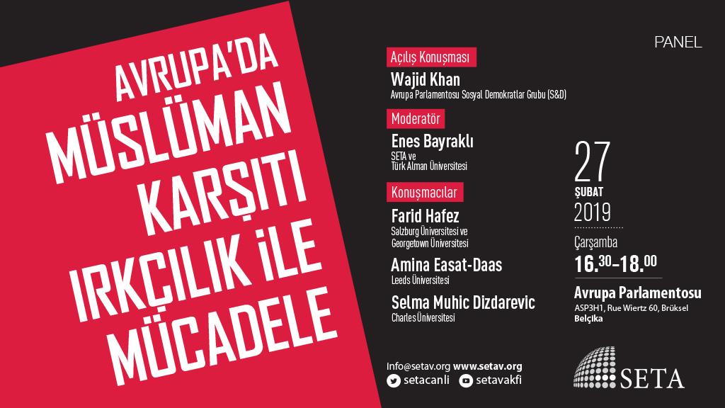 Panel: Avrupa'da Müslüman Karşıtı Irkçılık ile Mücadele