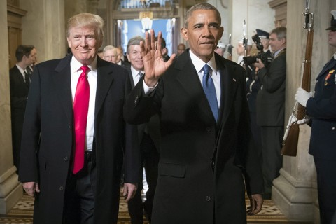 Donald Trump and Barack Hussein Obama