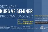 SETA 2019 Bahar Dönemi Kurs, Seminer ve Okuma Grubu Programı Başlıyor