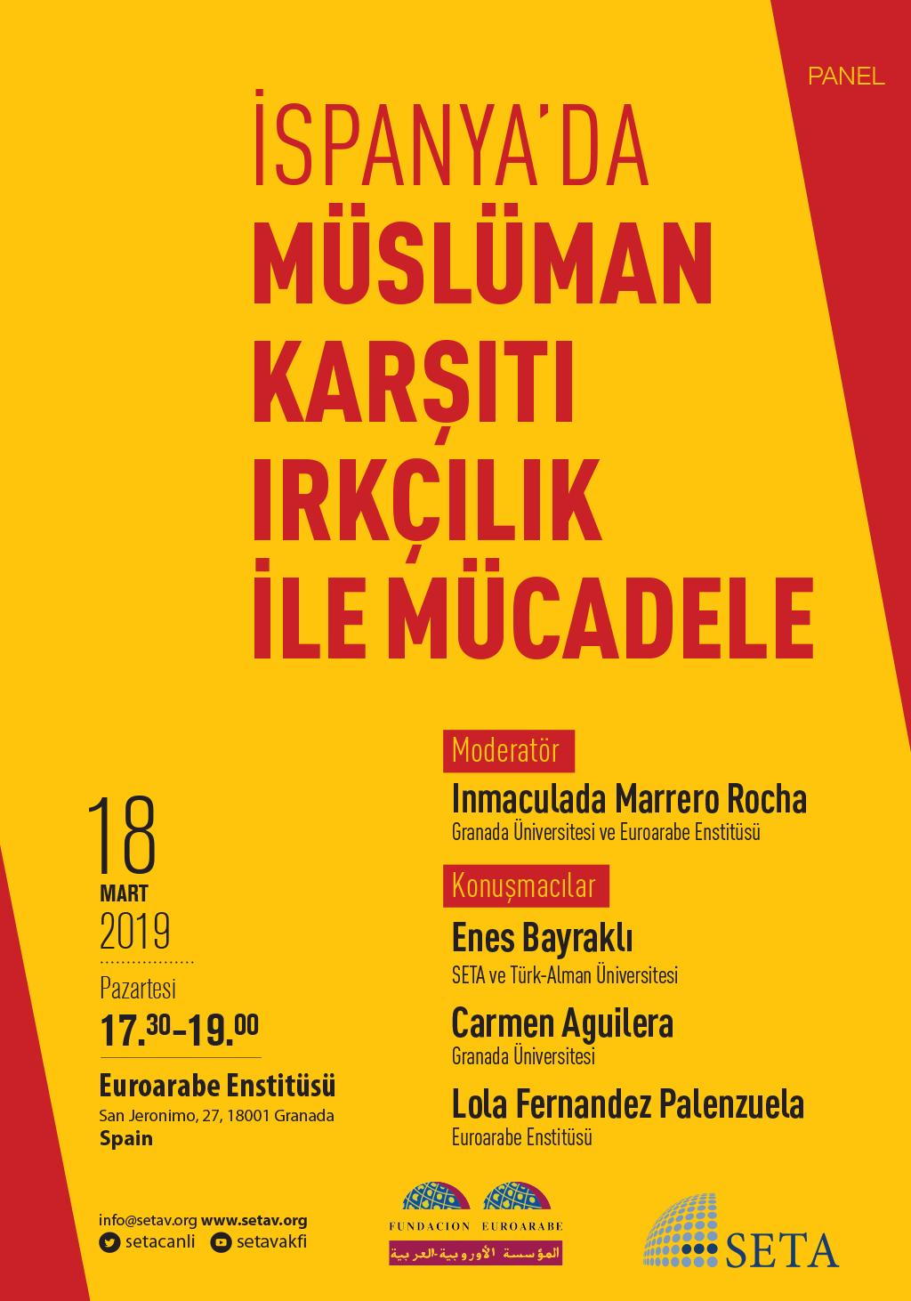 Panel: İspanya'da Müslüman Karşıtı Irkçılık ile Mücadele