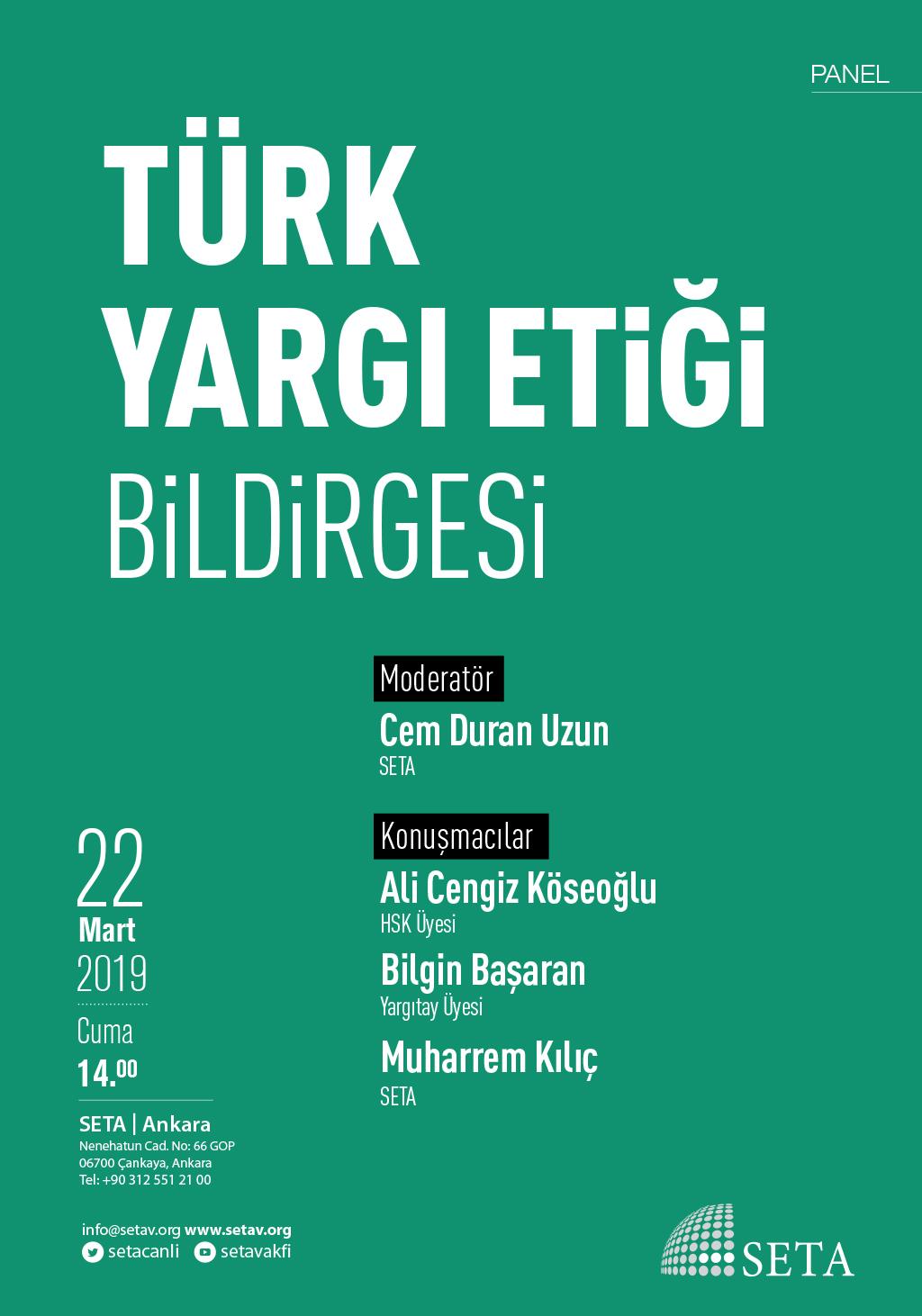 Panel: Türk Yargı Etiği Bildirgesi
