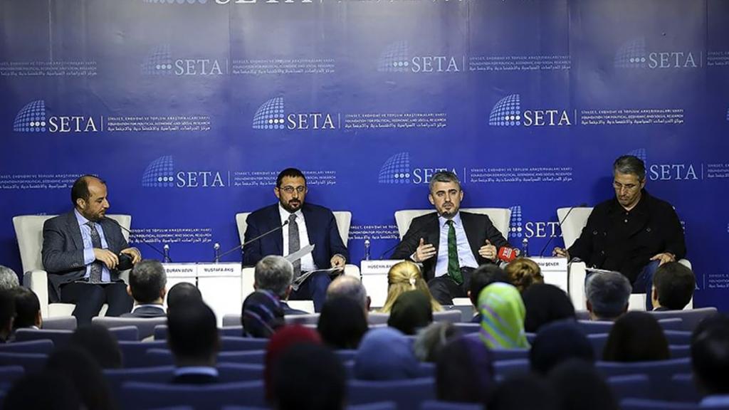 """Siyaset, Ekonomi ve Toplum Araştırmaları Vakfının (SETA) Ankara ofisinde gerçekleştirilen """"Darbe Davalarının Seyri ve FETÖ ile Mücadele"""" paneli"""