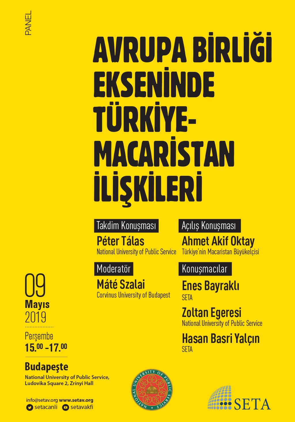 Panel: Avrupa Birliği Ekseninde Türkiye-Macaristan İlişkileri