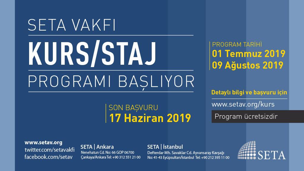SETA 2019 Yaz Dönemi Kurs Programı Başlıyor