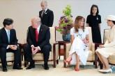 27 Mayıs 2019 | ABD Başkanı Donald Trump ve eşi Melania Trump, İmparatorluk Sarayı'nın avlusunda düzenlenen karşılama töreninde Japonya İmparatoru Naruhito ve İmparatoriçe Masako ile bir araya geldi. (AA)