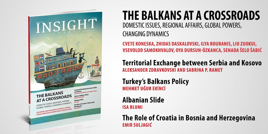 """Insight Turkey """"Balkanlar Bir Kavşakta: Milli Meseleler, Bölgesel İlişkiler, Küresel Güçler ve Değişen Dinamikler"""" Başlıklı Yeni Sayısını Yayınladı"""