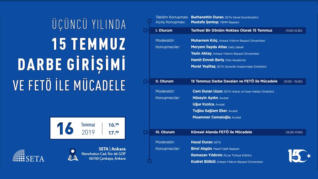 Sempozyum: Üçüncü Yılında 15 Temmuz Darbe Girişimi ve FETÖ ile Mücadele