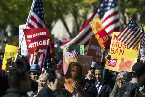 New York'ta Donald Trump aleyhine bir gösteri