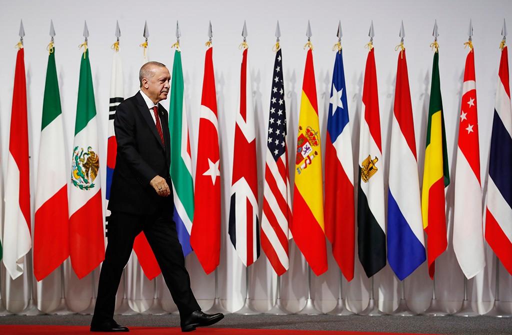 28 Haziran 2019 | Türkiye Cumhurbaşkanı Recep Tayyip Erdoğan, G20 Osaka Liderler Zirvesi'nin resmi açılış törenine katıldı.