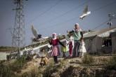 Gaziantep'te sığınmacı ailelerin çocukları