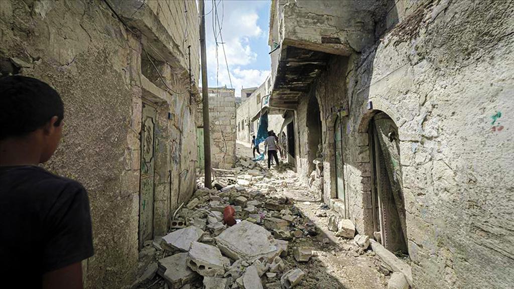 İdlib'de bir ara sokak