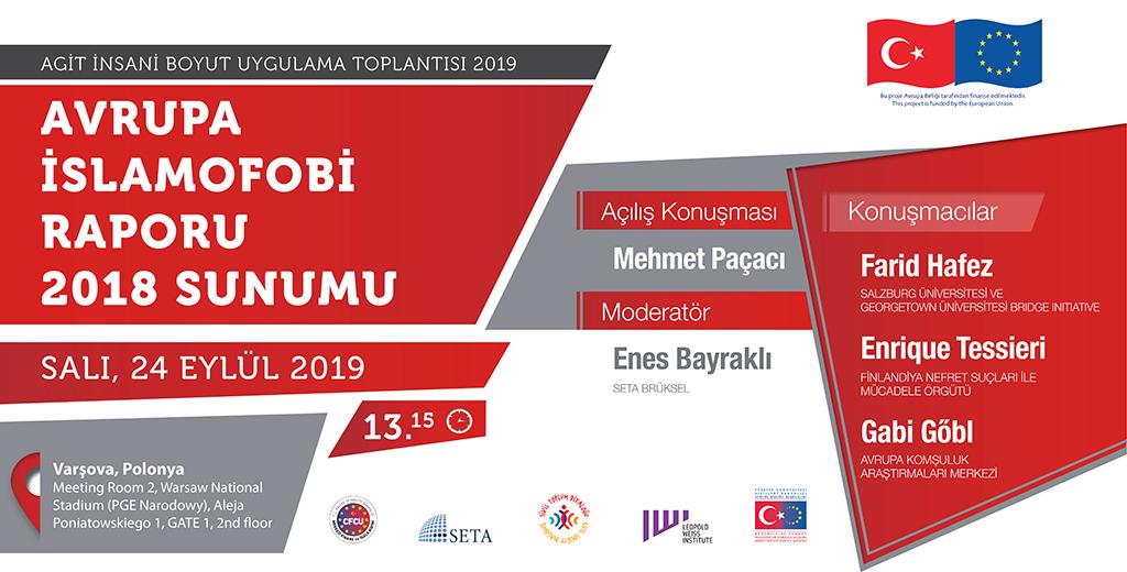 Avrupa İslamofobi Raporu 2018 Sunumu