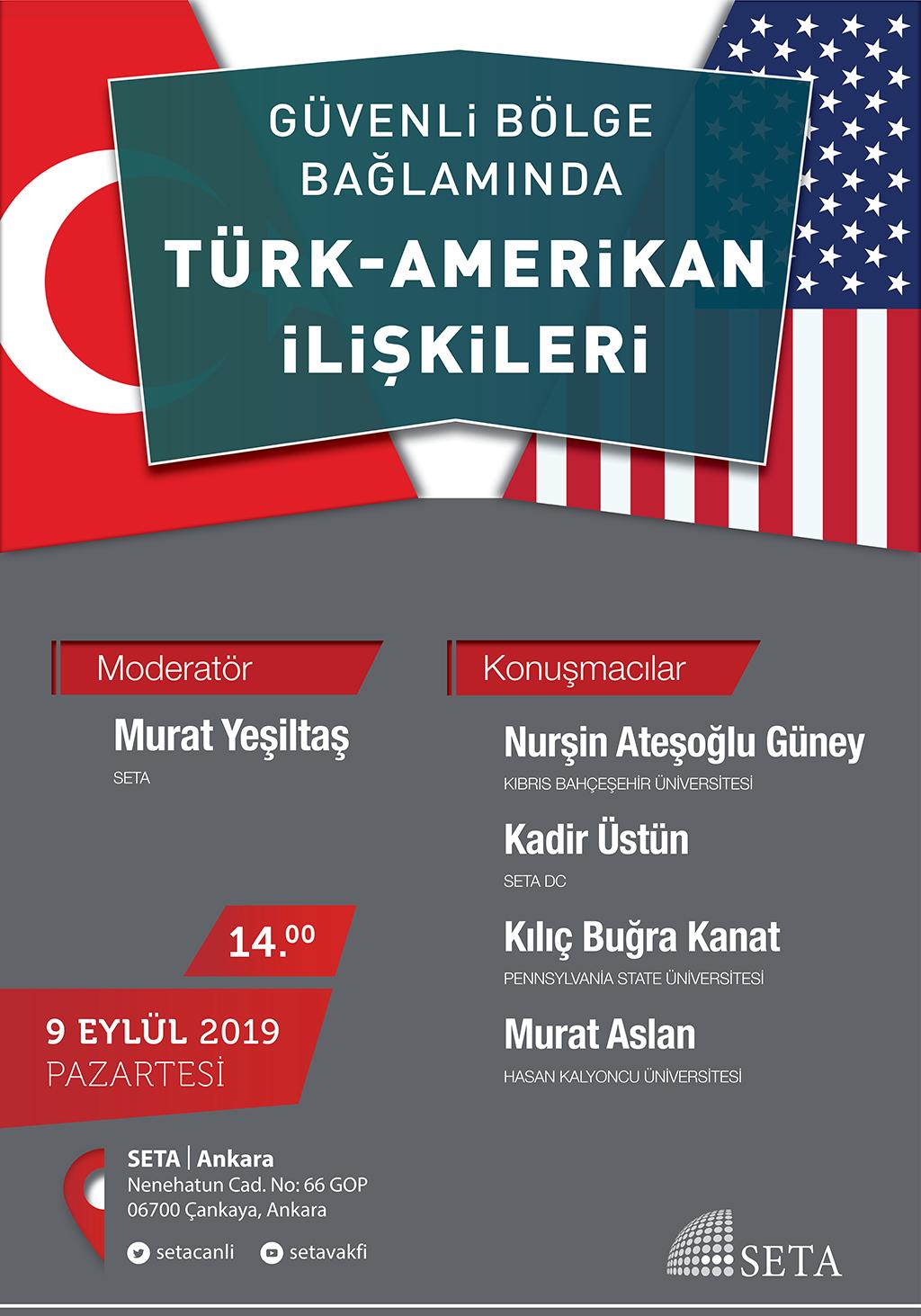 Panel: Güvenli Bölge Bağlamında Türk-Amerikan İlişkileri