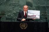24 Eylül 2019   Türkiye Cumhurbaşkanı Recep Tayyip Erdoğan, Birleşmiş Milletler (BM) Genel Kurul Salonu'nda, BM 74'üncü Genel Kurulu Genel Görüşmelerine katılarak Genel Kurul'a hitap etti.