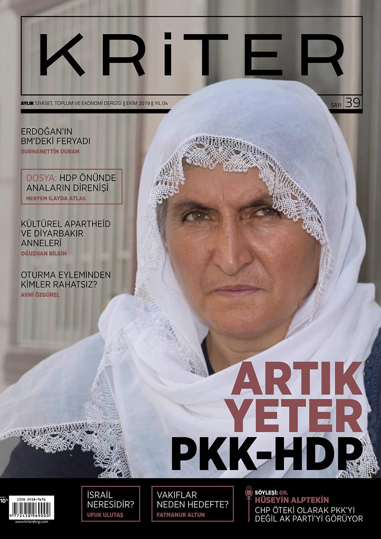 Kriter'in Eylül Sayısı Çıktı: Artık Yeter PKK-HDP