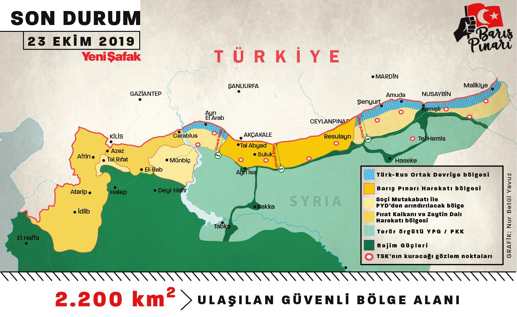 Barış Pınarı Harekatında Son Durum: 23 Ekim