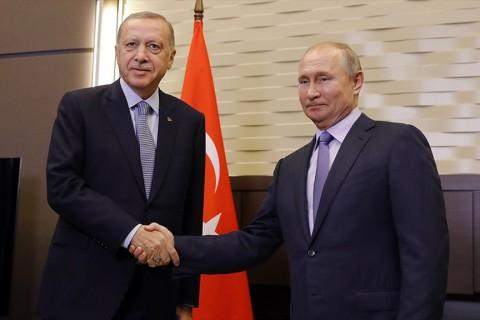 22 ekim 2019 | Cumhurbaşkanı Erdoğan ile Rusya Devlet Başkanı Putin, Soçi'deki Devlet Başkanlığı Rezidansı'nda bir araya geldi.