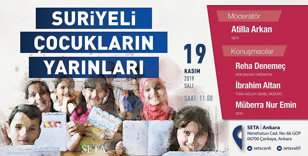 Panel: Suriyeli Çocukların Yarınları