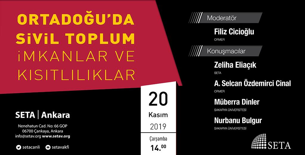 Panel: Ortadoğu'da Sivil Toplum | İmkanlar ve Kısıtlılıklar