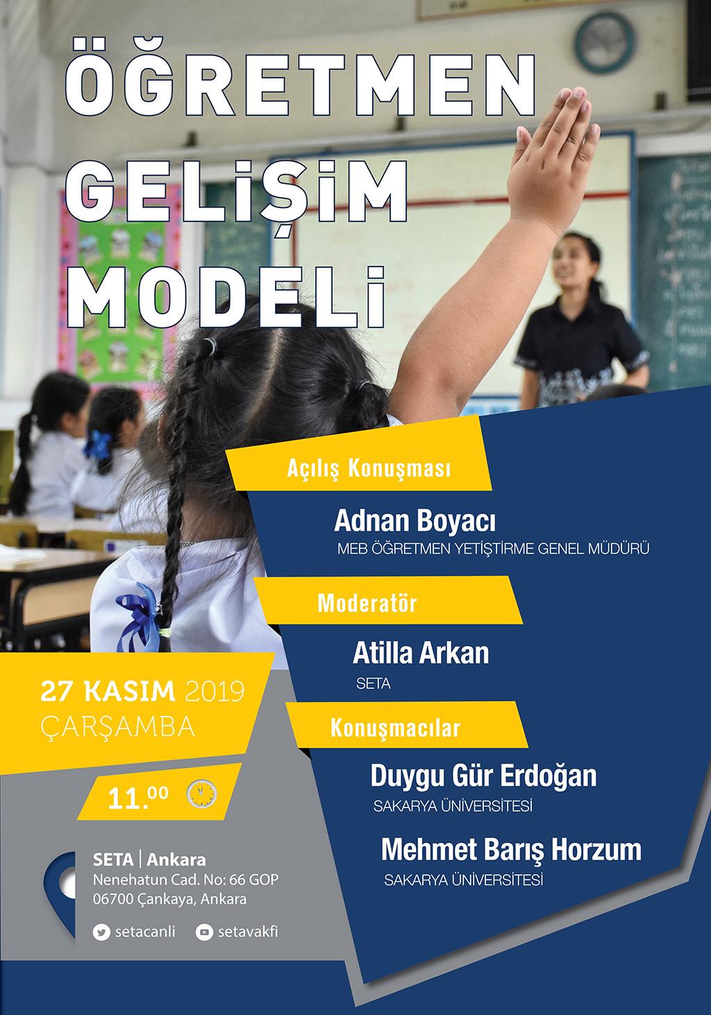 Panel: Öğretmen Gelişim Modeli