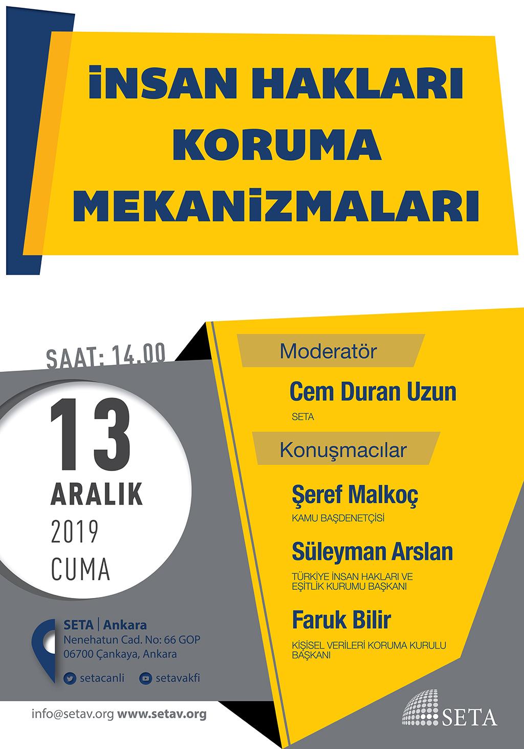 Panel: İnsan Hakları Koruma Mekanizmaları