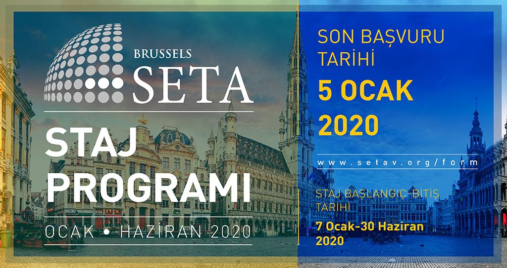 SETA Brüksel 2020 Staj Programı Başlıyor