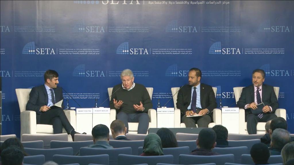 Siyaset, Ekonomi ve Toplum Araştırmaları Vakfında (SETA) 'Türk-Amerikan İlişkilerindeki Problemlerin Üstesinden Gelmek' paneli düzenlendi.