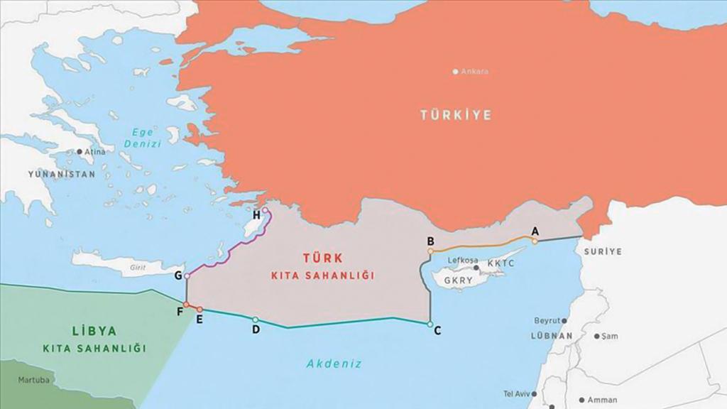 """Türkiye ile Libya'daki uluslararası meşruiyete sahip UMH arasında 27 Kasım 2019'da """"Güvenlik ve Askeri İşbirliği Mutabakat Muhtırası"""" ile iki ülkenin uluslararası hukuktan kaynaklanan haklarının muhafazasını hedefleyen """"Deniz Yetki Alanlarının Sınırlandırılmasına İlişkin Mutabakat Muhtırası"""" imzalanmıştı."""