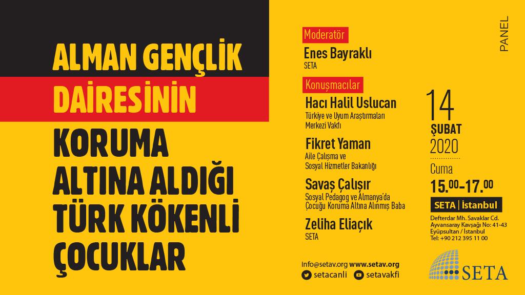 Panel: Alman Gençlik Dairesinin Koruma Altına Aldığı Türk Kökenli Çocuklar
