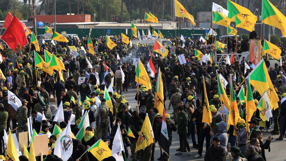 4 Ocak 2020 | Irak'ın başkenti Bağdat'ta, İran Devrim Muhafızları'na bağlı Kudüs Gücü Komutanı Kasım Süleymani ve Haşdi Şabi Başkan Yardımcısı Ebu Mehdi el-Mühendis için cenaze töreni düzenlendi.